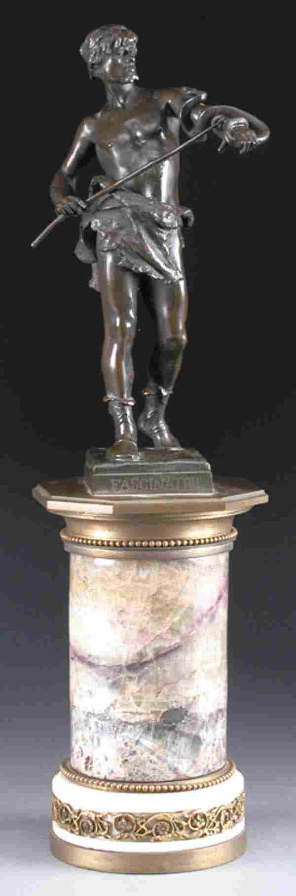 Blue John Gilt Bronze Mounted Table Pedestal