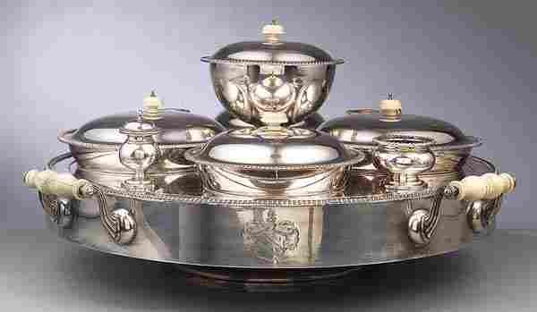 Good Victorian Silverplate Supper Service