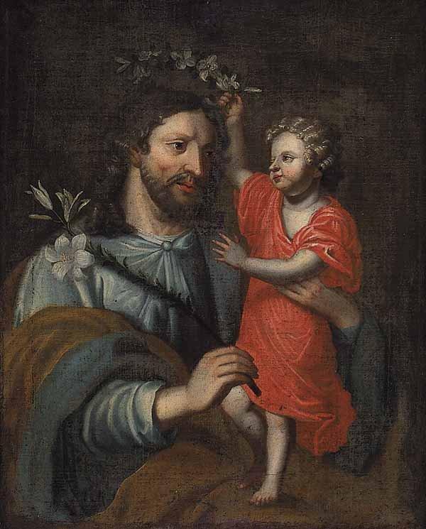 Italian Saint Anthony of Padua oil on canvas