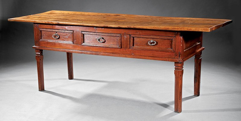 Italian Beech and Oak Console Table