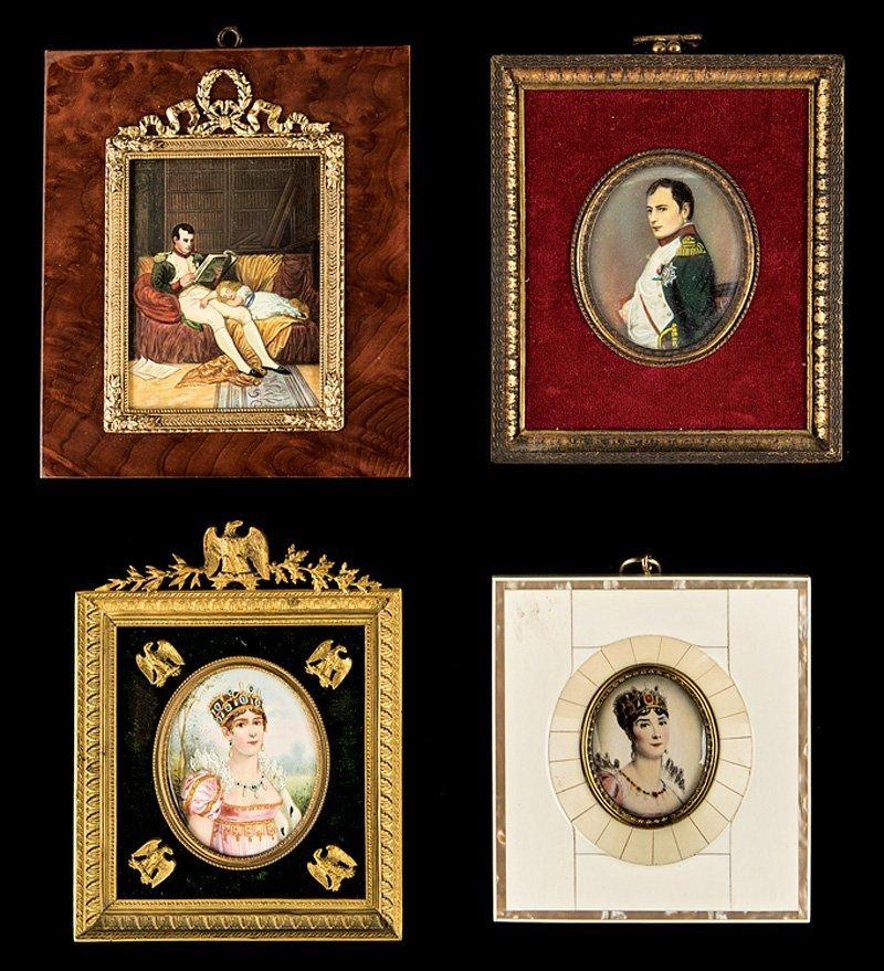 Four Napoleonic Portrait Miniatures