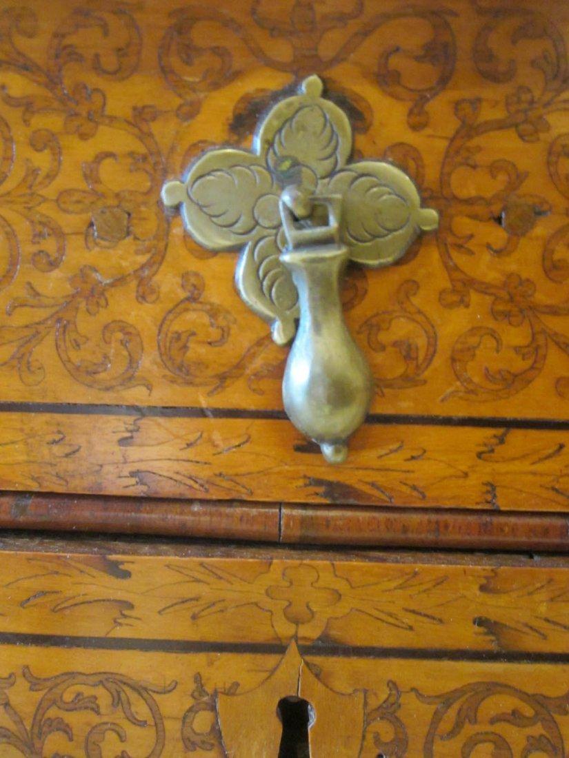 Seaweed Marquetry, Burled Walnut Secretary Bookcase - 8