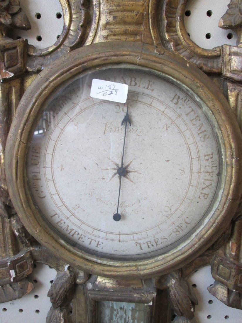 Louis XVI Carved and Giltwood Barometer - 2