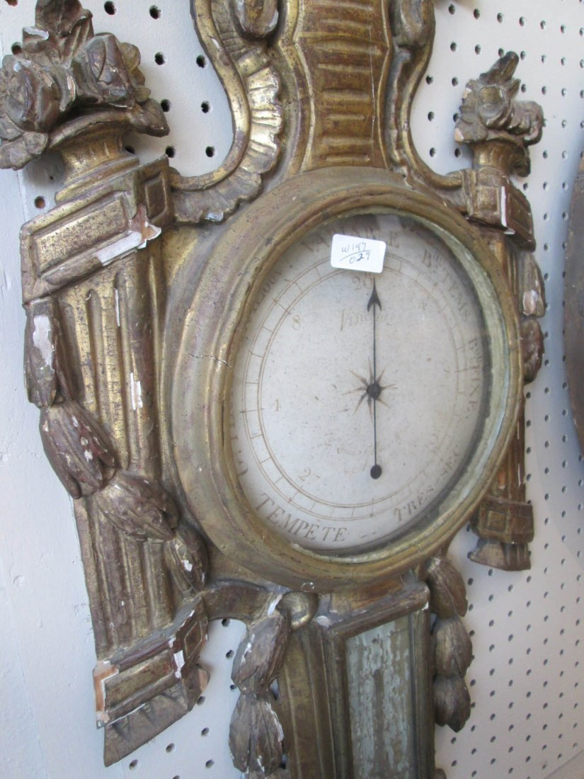 Louis XVI Carved and Giltwood Barometer - 4