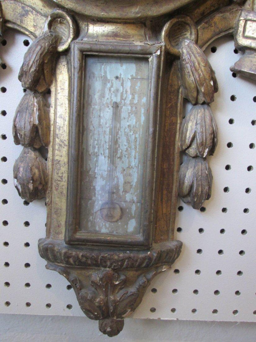 Louis XVI Carved and Giltwood Barometer - 5