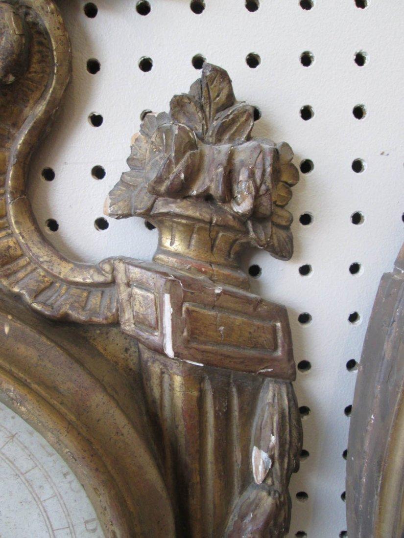 Louis XVI Carved and Giltwood Barometer - 6