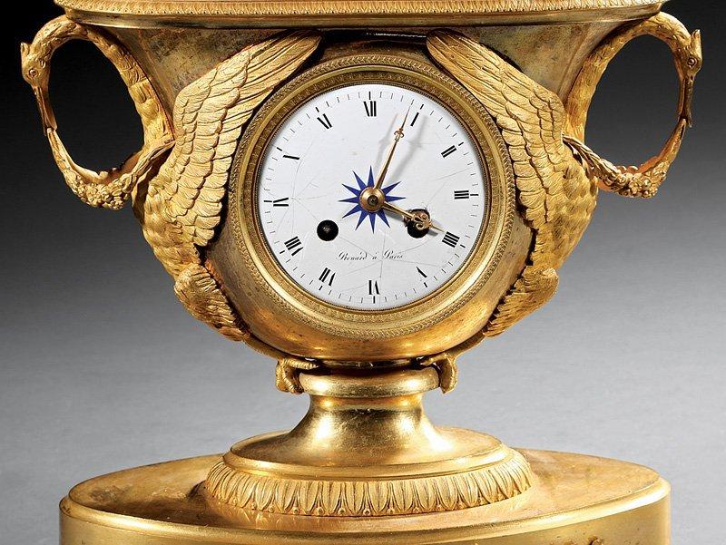 "Empire Gilt Bronze Figural Clock, ""Renard a Paris"" - 3"