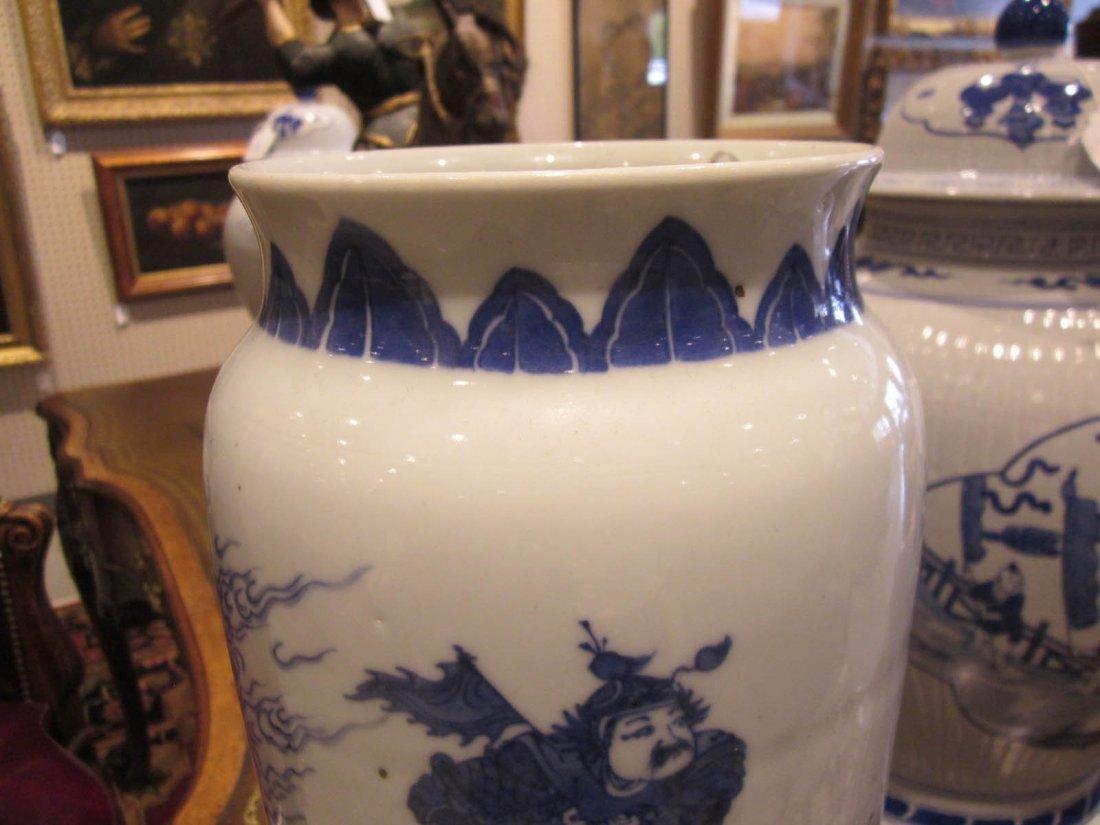 Chinese Blue and White Porcelain Sleeve Vase - 6