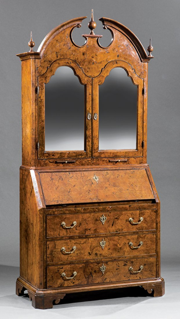 Italian Neoclassical Carved Olivewood Secretary