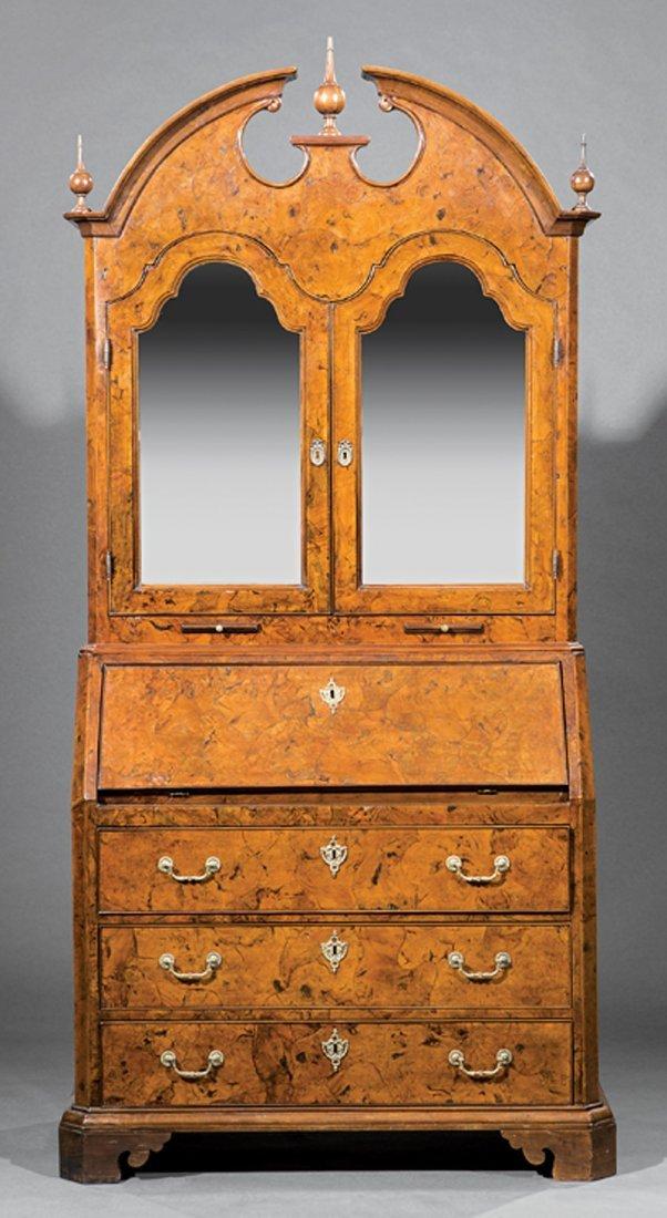 Italian Neoclassical Carved Olivewood Secretary - 3