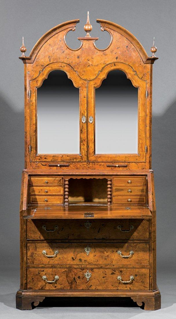 Italian Neoclassical Carved Olivewood Secretary - 4