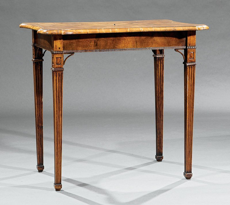 Louis XVI Fruitwood Parquetry Mechanical Poudreuse
