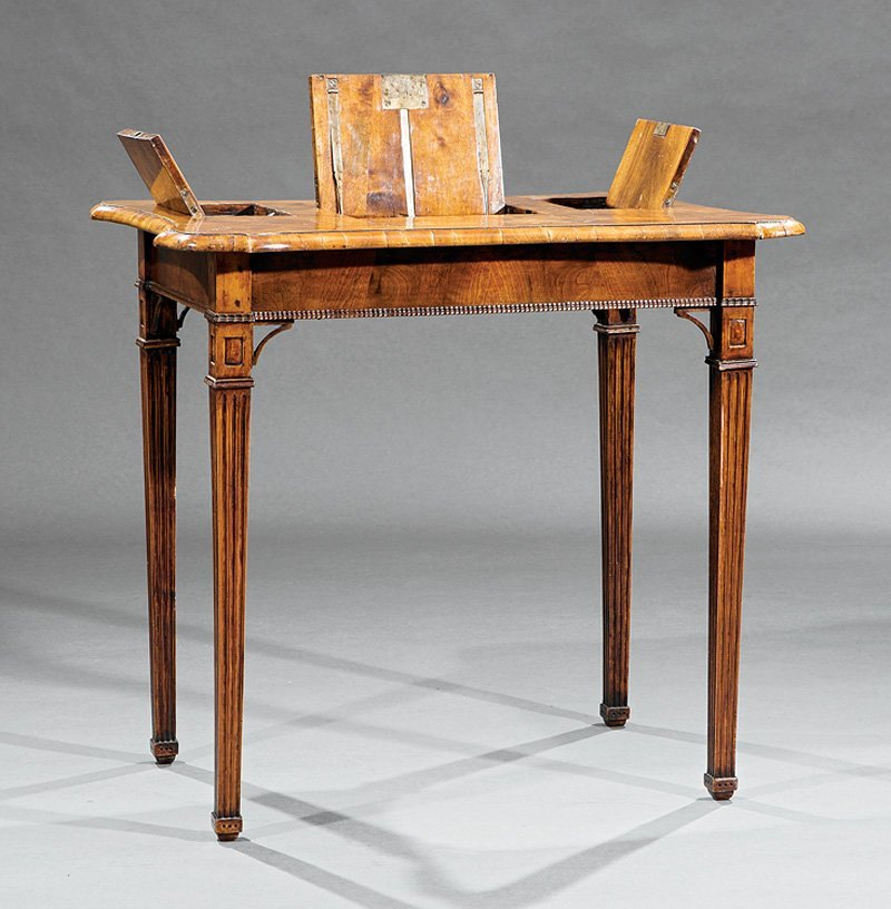 Louis XVI Fruitwood Parquetry Mechanical Poudreuse - 2