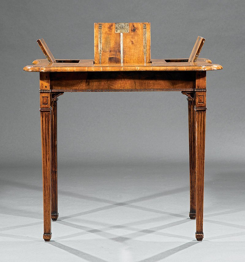 Louis XVI Fruitwood Parquetry Mechanical Poudreuse - 3
