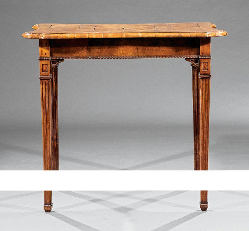 Louis XVI Fruitwood Parquetry Mechanical Poudreuse - 4