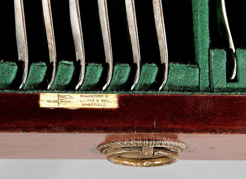 Walker & Hall Silver Flatware Service - 5