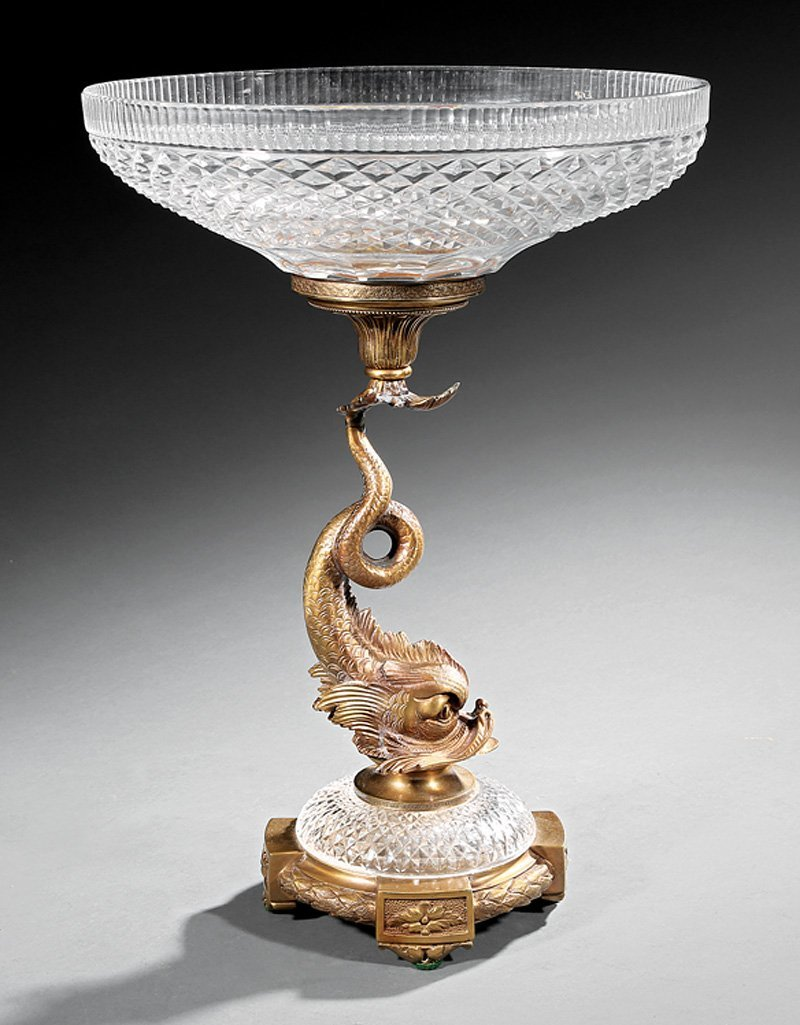 French Gilt Bronze and Cut Crystal Centerpiece - 2