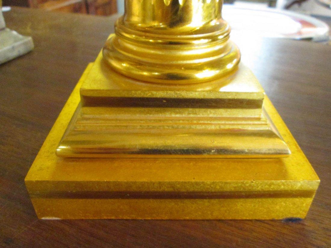 American Gilt Bronze Solar Lamp - 3