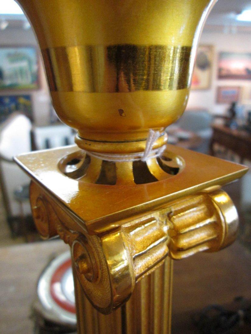 American Gilt Bronze Solar Lamp - 4