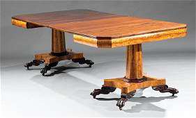 Classical Carved Cherrywood, Satinwood Dining Table