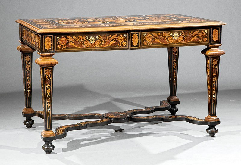Louis XIV-Style Marquetry Salon Table