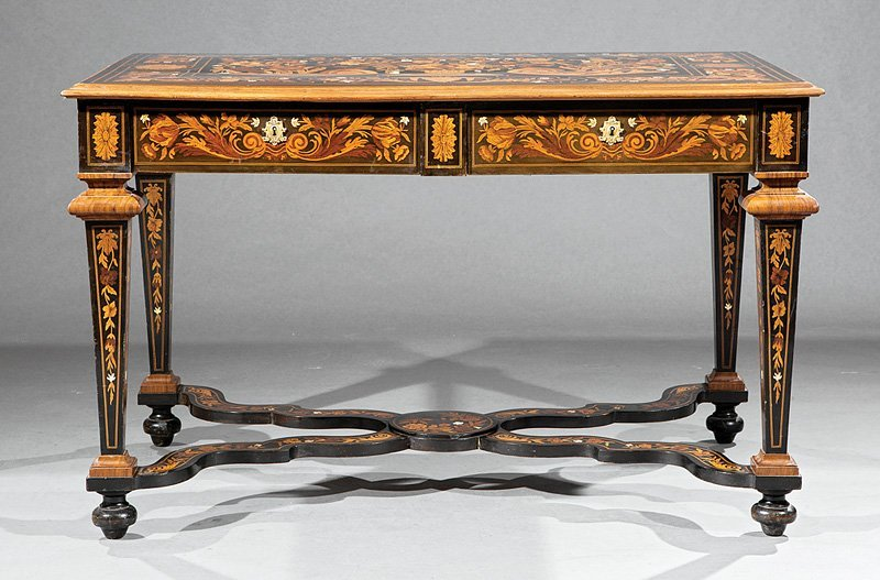 Louis XIV-Style Marquetry Salon Table - 2