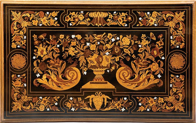 Louis XIV-Style Marquetry Salon Table - 3