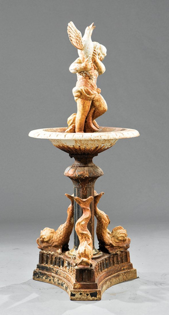 American Cast Iron Garden Fountain - 2