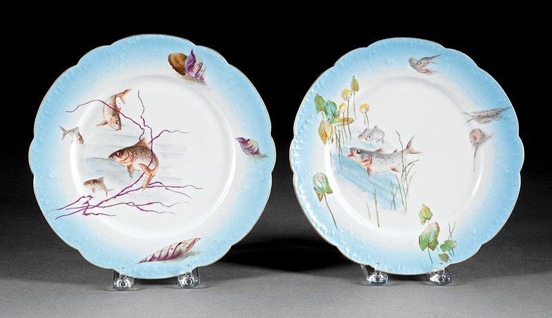 Twenty-Nine Porcelain Fish Plates, Guerin - 10
