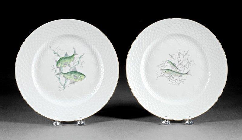 Twenty-Nine Porcelain Fish Plates, Guerin - 2