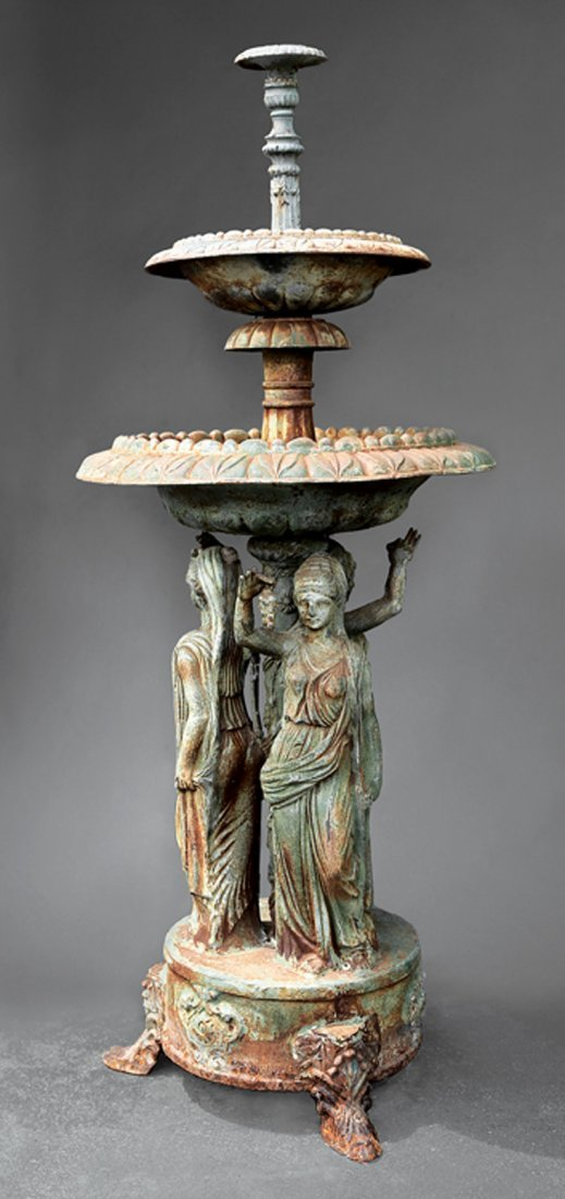 Two-Tiered Cast Iron Fountain
