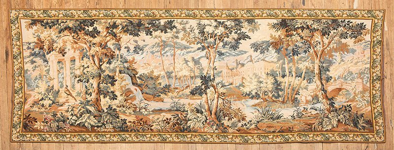 Decorative Aubusson-Style Tapestry