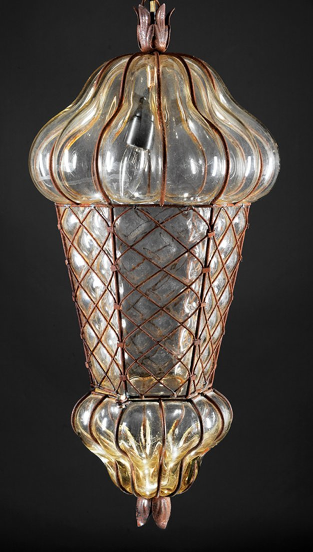 Italian Blown Glass Lantern