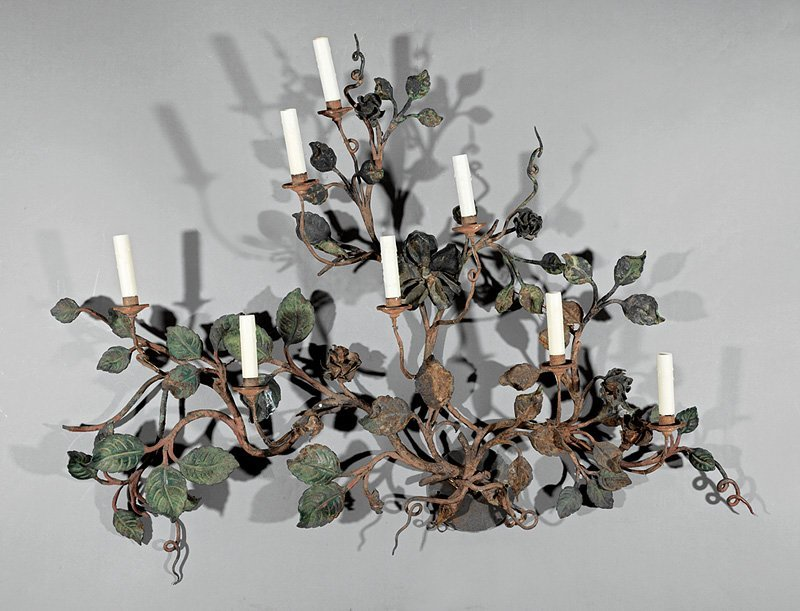 Italian Painted Metal Eight-Light Sconce