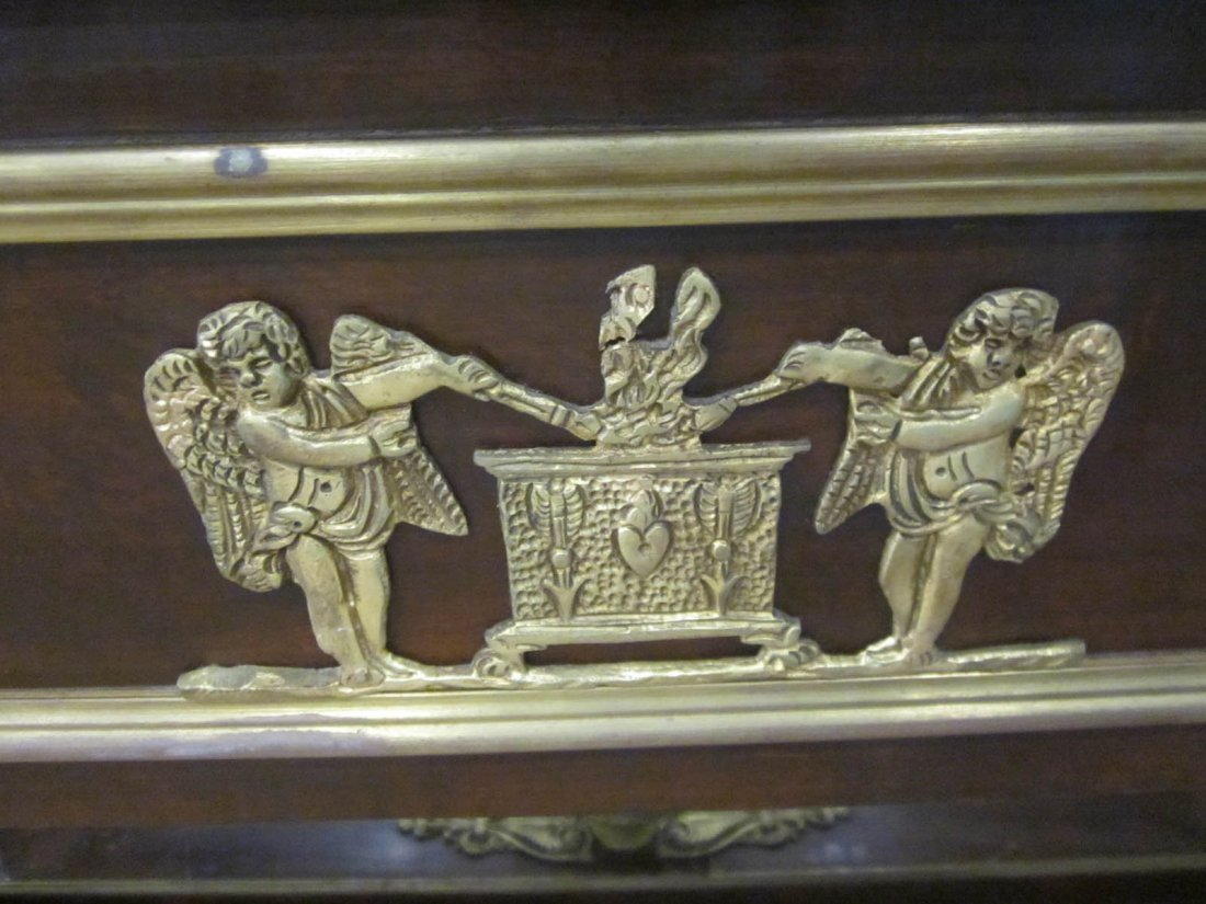 Empire-Style Bronze-Mounted Mahogany Bureau Plat - 5