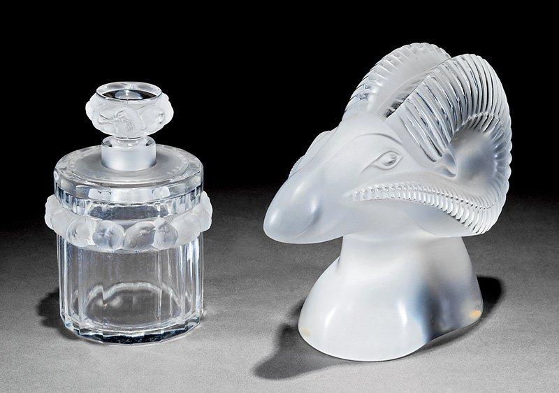Lalique Ram's Head Glass Sculpture