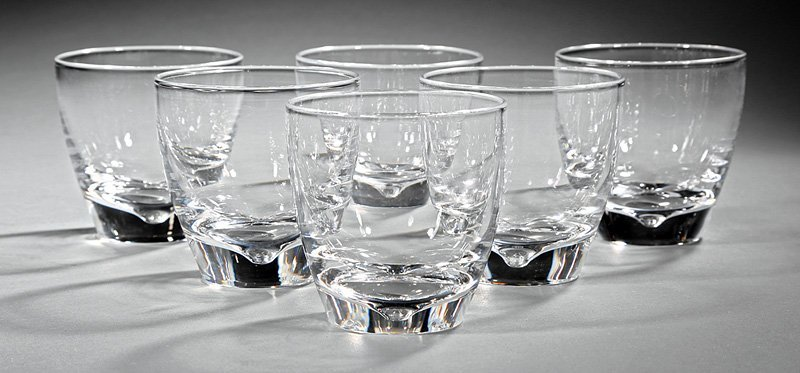 Six Steuben Crystal Old Fashioned Glasses