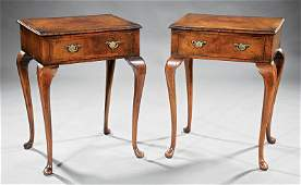 Pair of Queen Anne-Style Walnut Side Tables