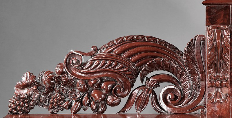 Carved Mahogany Sideboard attr. Quervelle - 3