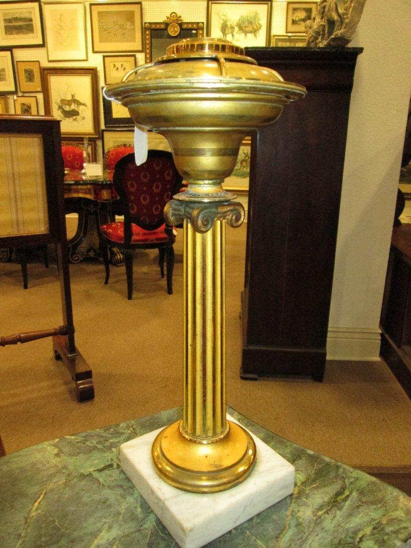 American Gilt Bronze Solar Lamp attr. Hooper & Co, - 2