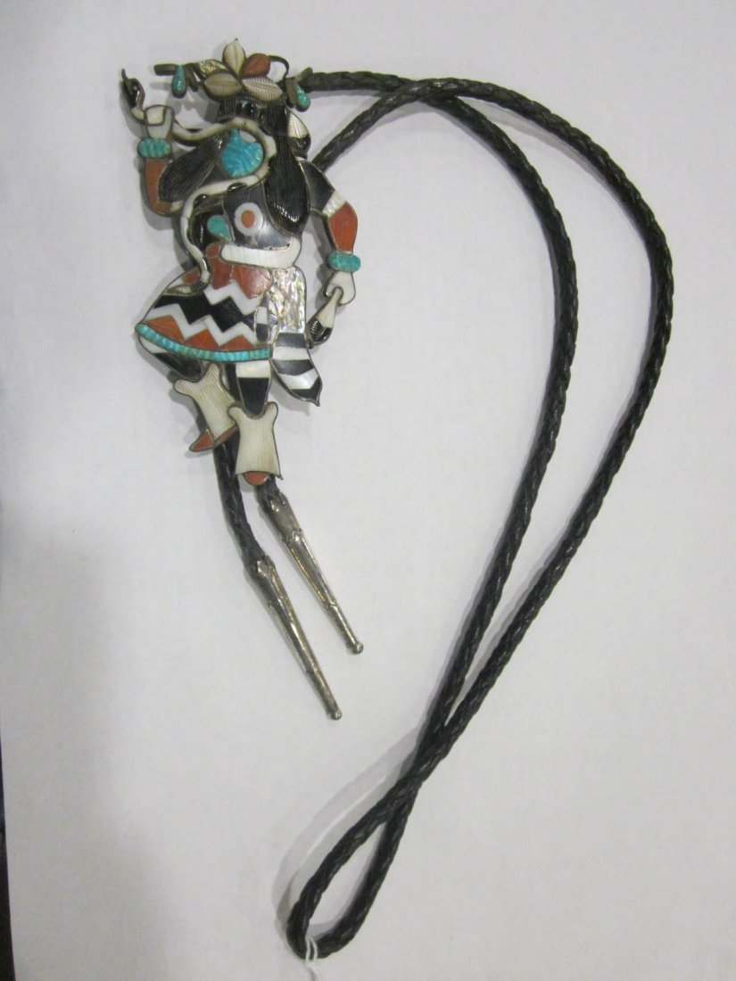 Vintage American Southwestern Silver and Stone Bolos - 4