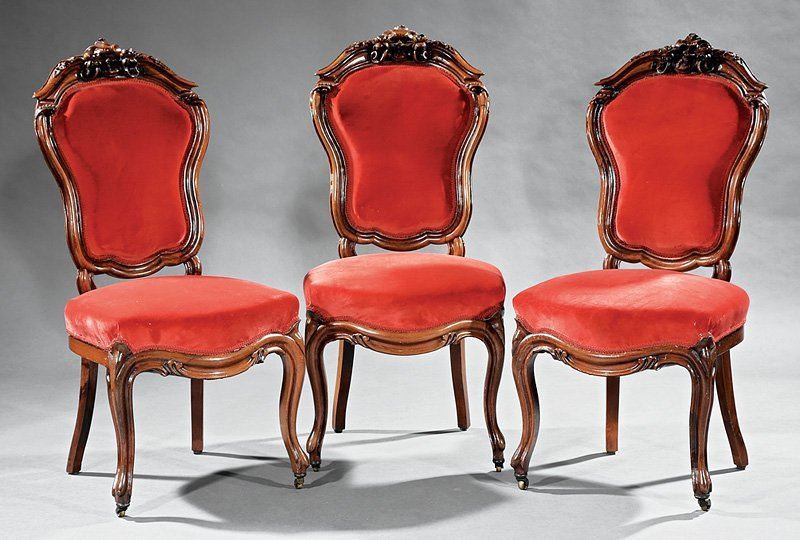 American Rococo Carved Rosewood Parlour Suite