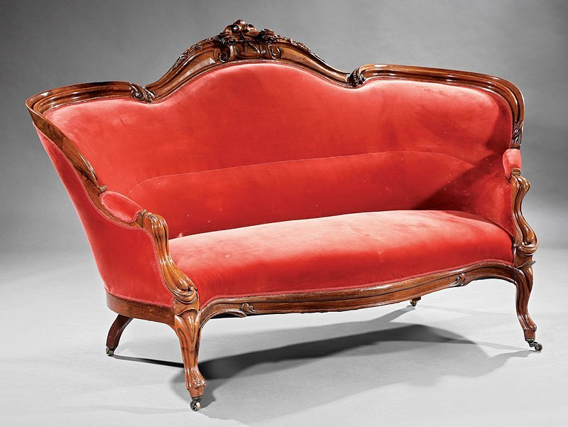 American Rococo Carved Rosewood Parlour Suite - 3