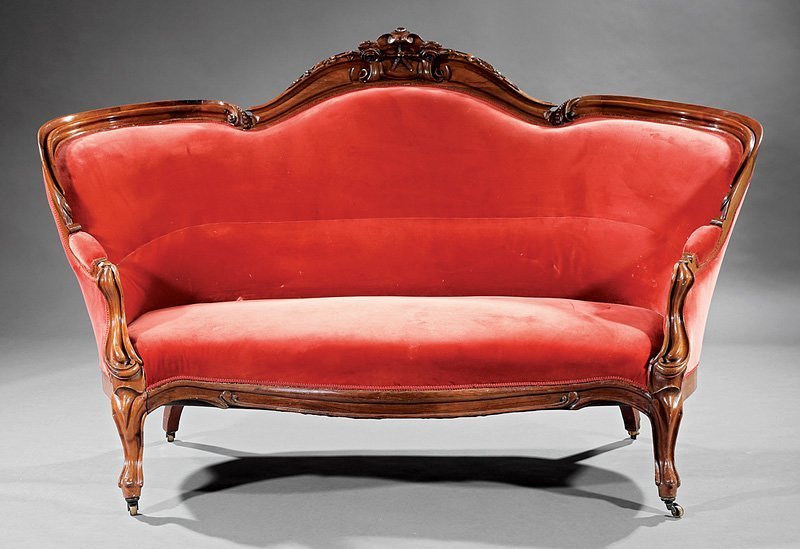 American Rococo Carved Rosewood Parlour Suite - 4