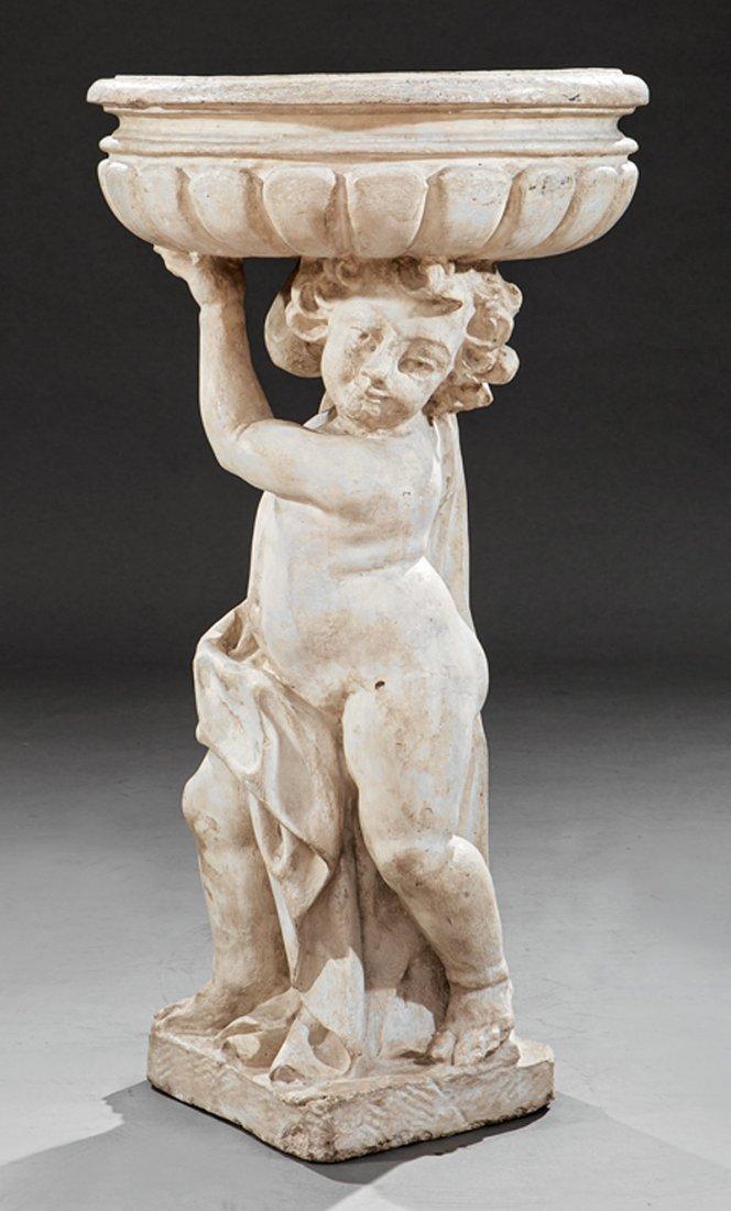 Italian Cast Stone Figural Jardiniere