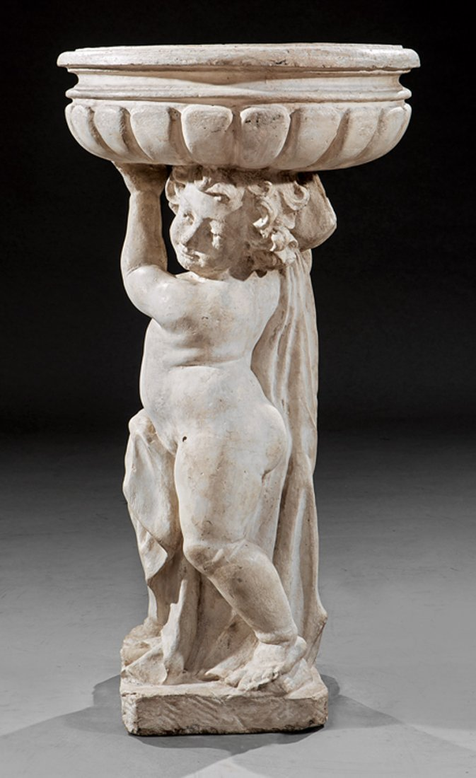 Italian Cast Stone Figural Jardiniere - 2