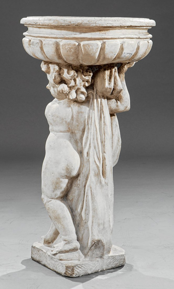 Italian Cast Stone Figural Jardiniere - 3