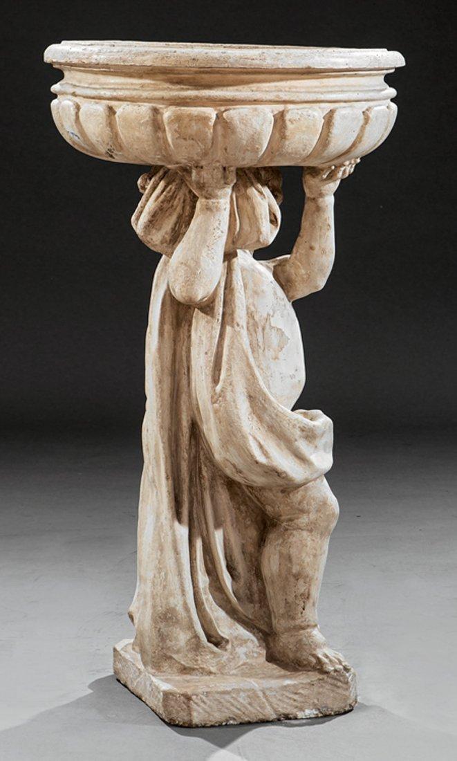 Italian Cast Stone Figural Jardiniere - 4