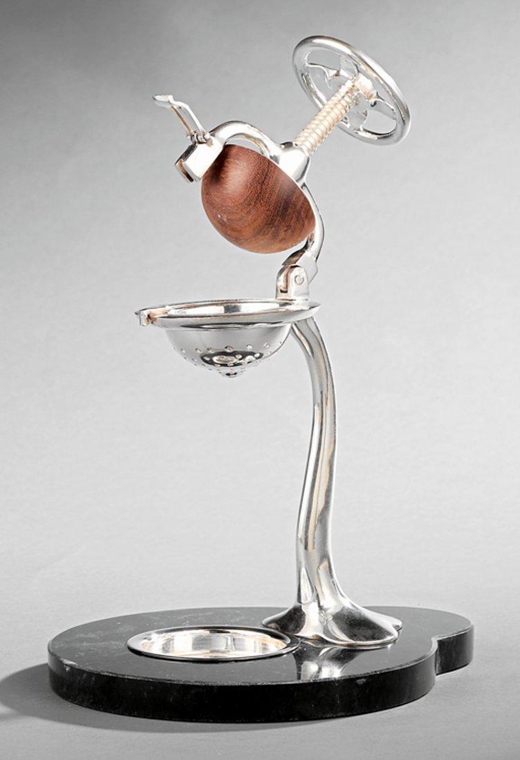 Decorative Silverplate Citrus Press