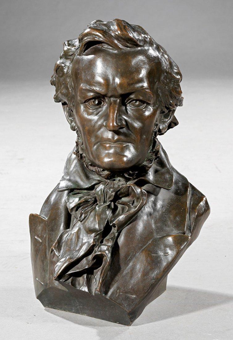 Patinated Bronze Bust of a Gentleman